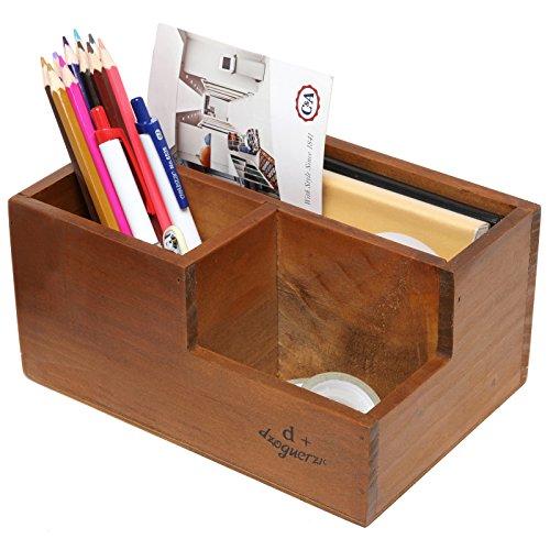 Amazon.com : KLOUD City Dark Brown Wood Desk Desktop ...  Desktop Mail Organizer For Kitchen