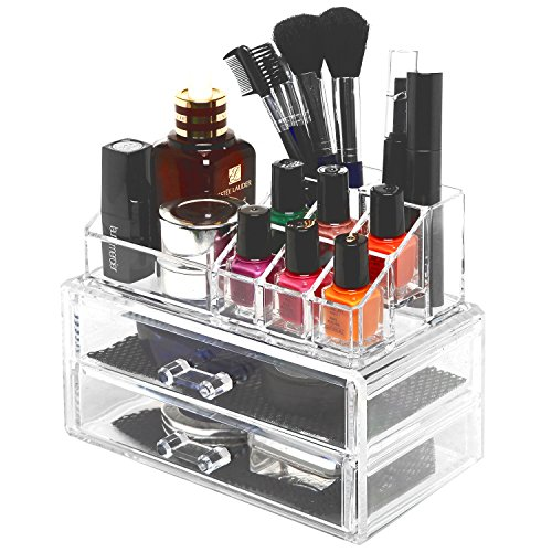 Pro Clear Acrylic Counter Dresser Top 2 Drawers